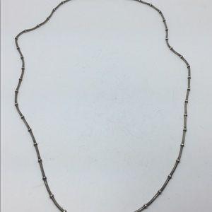 "Vintage Sterling Silver Beaded Snake 18"" Necklace"